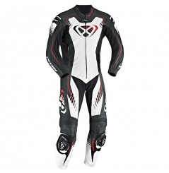 Combinaison Moto Racing IXON STARBUST 2.0 Noir - Blanc - Rouge