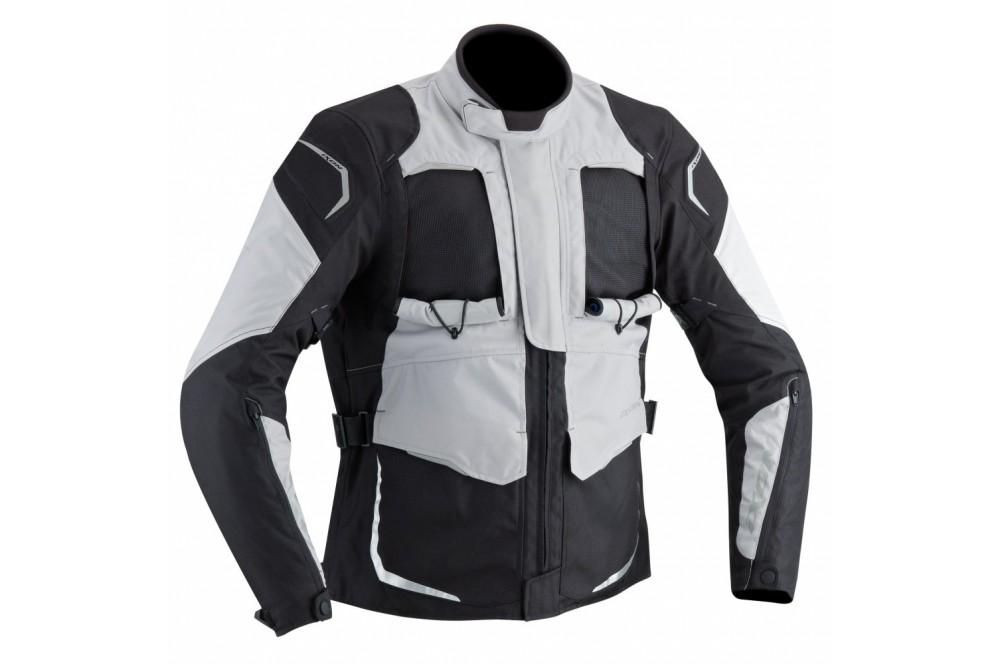 veste moto ixon cross air noir gris street moto piece. Black Bedroom Furniture Sets. Home Design Ideas
