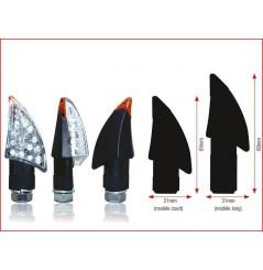 Clignotants Universel Blade Leds Noir Long