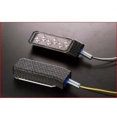 Clignotant LED Moto Homologuer Fryer Carbone, Promo