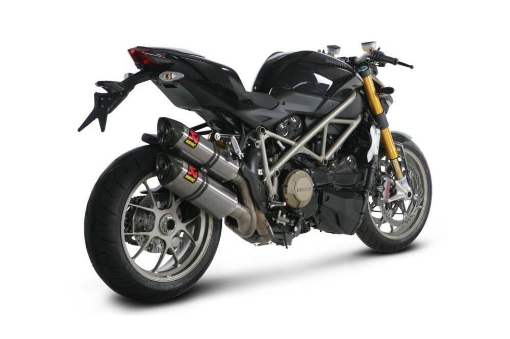 Silencieux Titane Akrapovic Homologué Ducati Monster Streetfighter / S 1100 09/12