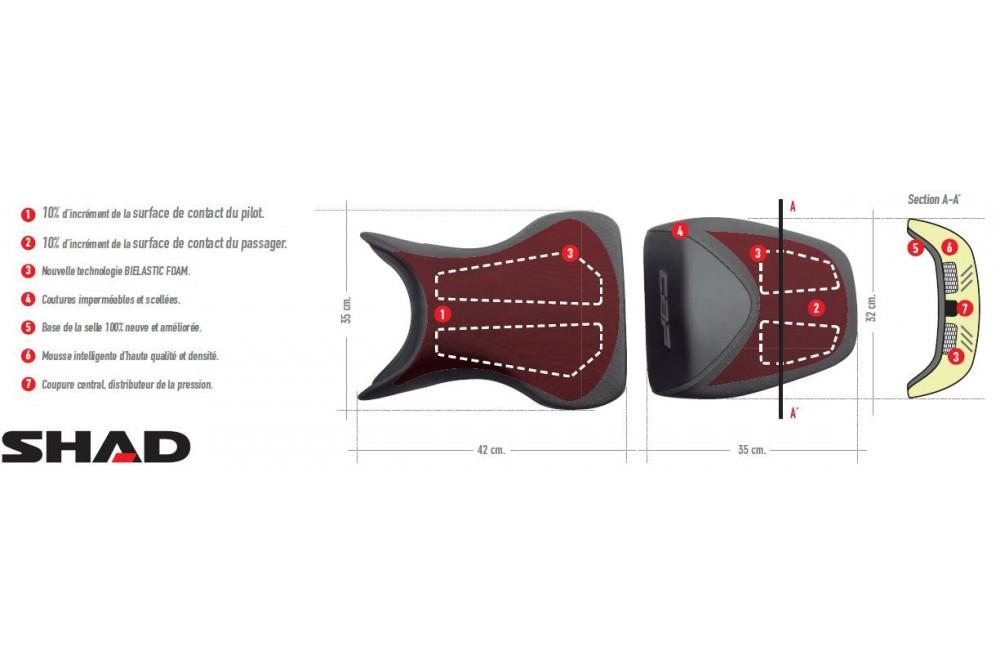 Selle Confort Shad Honda CBF 600 de 2009 a 2012