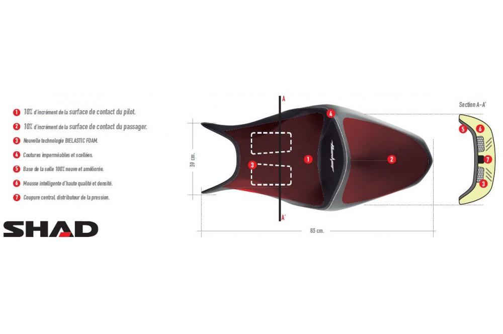 Selle Confort Shad Honda Hornet CB 600F de 2011 a 2012