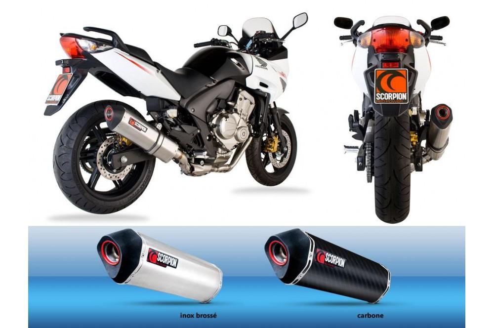 Silencieux Scorpion Serket Inox Honda CBF 600 06/13
