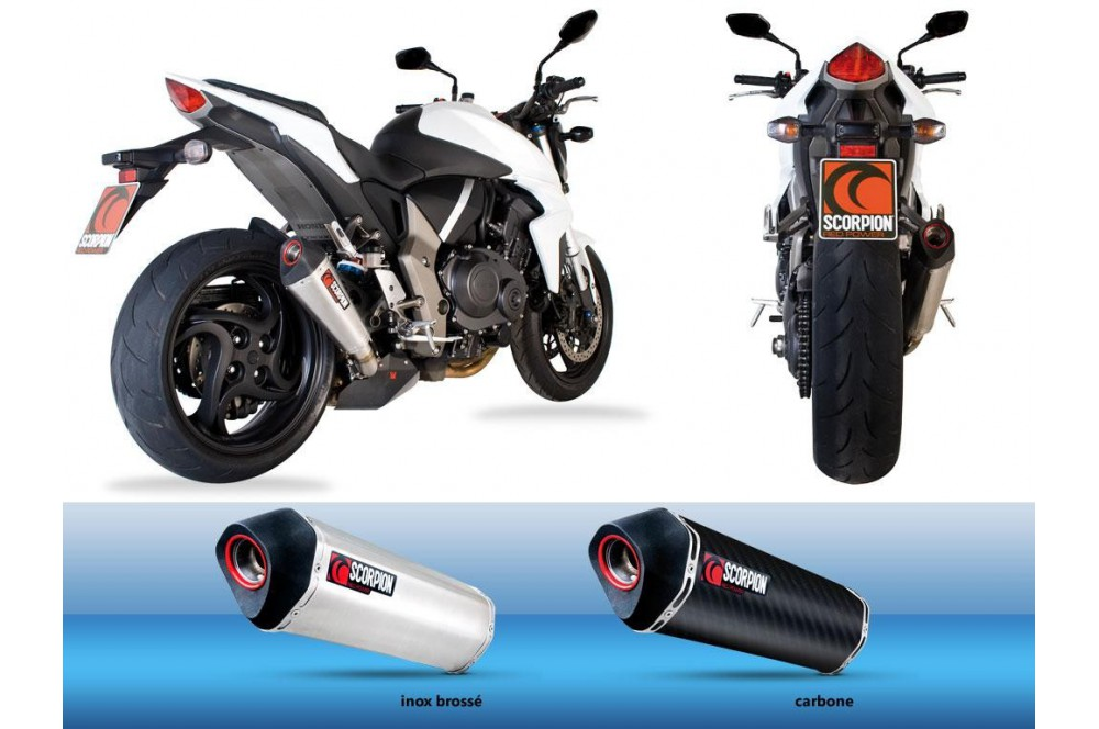 Silencieux Scorpion Serket Carbone Honda CB 1000 R 08/13