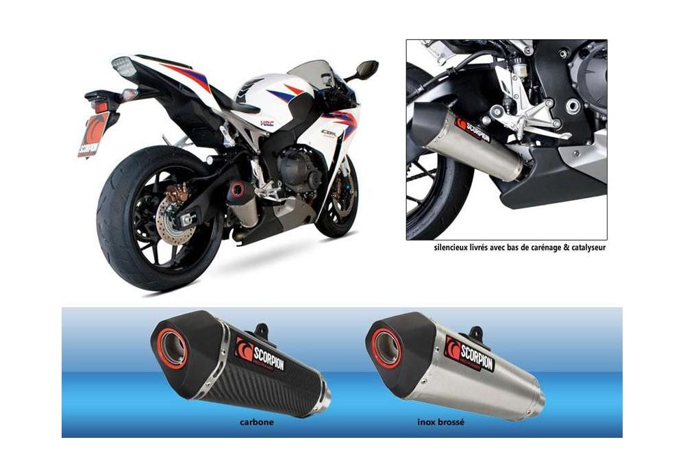 Silencieux Scorpion Serket Carbone Honda CBR 1000 RR 12/13