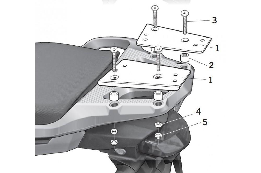 SUPPORT TOP CASE SHAD VFR 1200 X CROSSTOURER de 2012 a 2013