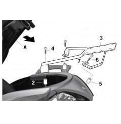 SUPPORT TOP CASE SHAD X-CITY 125 et 250 (09-12)