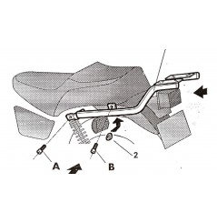 SUPPORT TOP CASE SHAD SR125 (96-04)