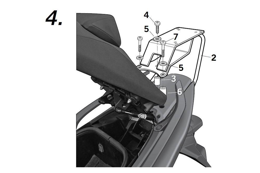 SUPPORT TOP CASE SHAD T-MAX 530 de 2012 a 2013