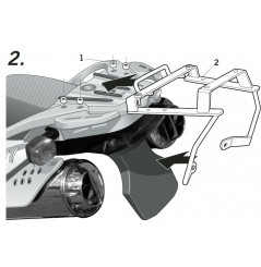 Support Top Case Shad BMW F650 GS (04-07) G650 GS (11-16)