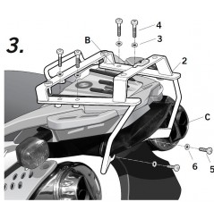 Support Top Case Shad BMW F650 GS (04-07) G650 GS (11-13)