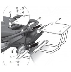 Support Top Case Shad BMW F800 ST (09-15)