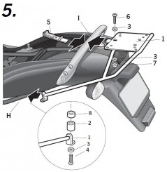 Support Top Case Shad BMW K1200 RS et GT (03-05)