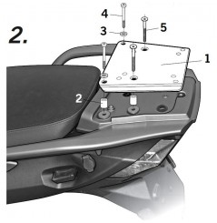 Support Top Case Shad Triumph TROPHY 1300 (13-15)