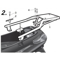 Support Top Case Shad X7 et Evo 125, 250 et 300 (08-16)