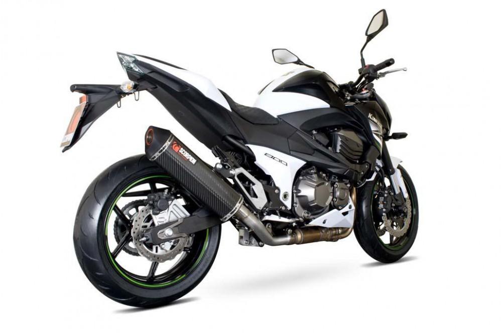 Silencieux Scorpion Serket Carbone Kawasaki Z800 2013