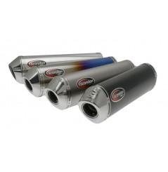 Silencieux Scorpion Factory Ovales Carbone pour GSXF 650 (08-16)