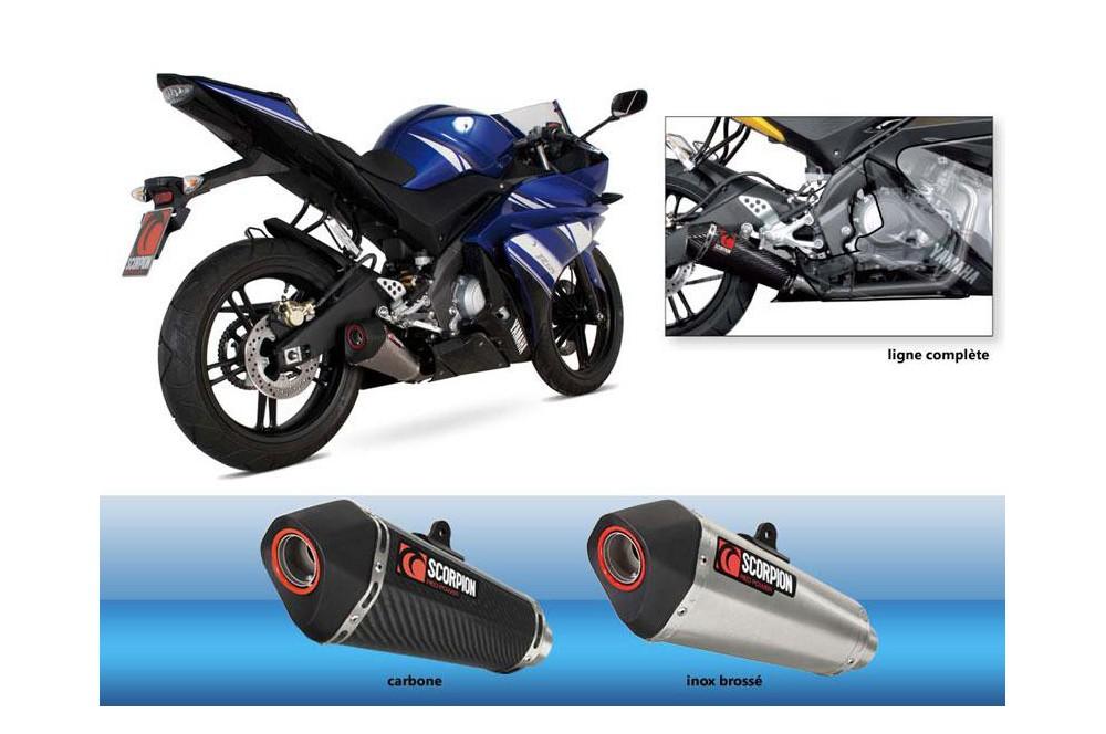 Ligne complète Scorpion Serket Inox Yamaha YFZ125R 08/13