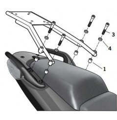 Support Top Case Shad CBF1000 F (10-13)