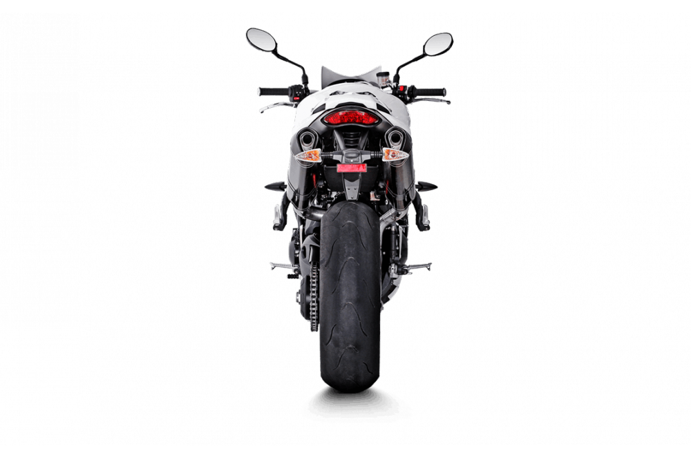Silencieux Carbone Akrapovic Homologué Speed Triple 1050 de 2011 a 2014