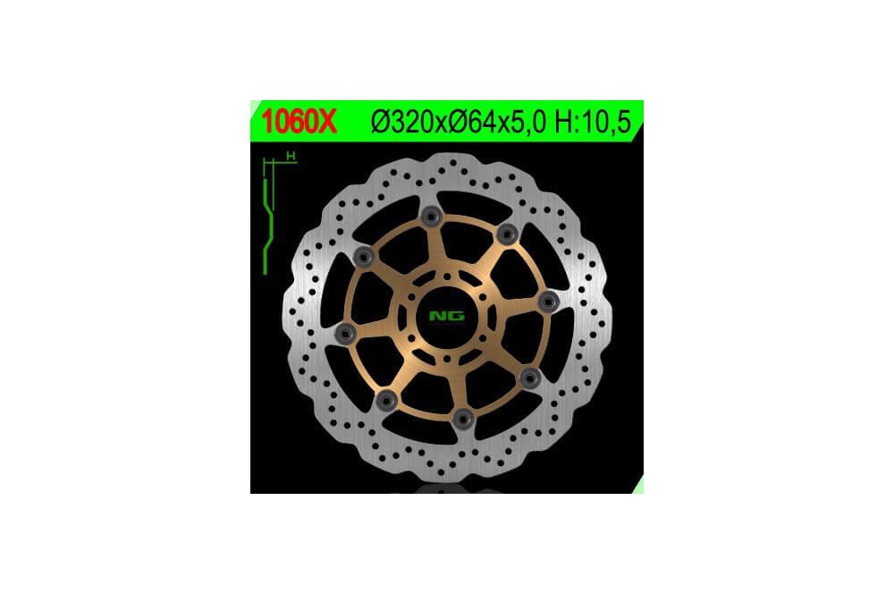 Disque de frein avant wave FZR 1000 Exup 90/95, XJR 1200 95/98, XJR 1300