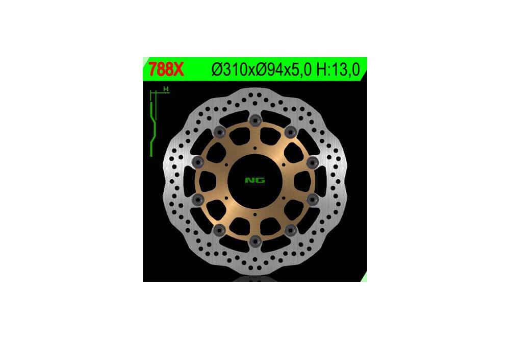 Disque de frein avant Honda CBR 600 RR avec Abs 09/12, CB 1000 R 08/11, CBR 1000 RR 04/05, CB 1300