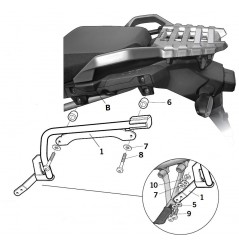 Support de Valise Shad 3P System pour V-Strom 1000 (14-16)