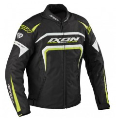 Blouson Moto Ixon EAGER Noir - Blanc - Jaune