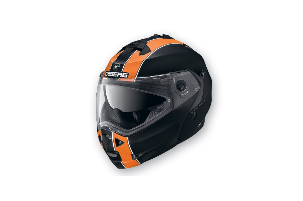 casque moto modulable caberg duke legend noir orange street moto piece. Black Bedroom Furniture Sets. Home Design Ideas