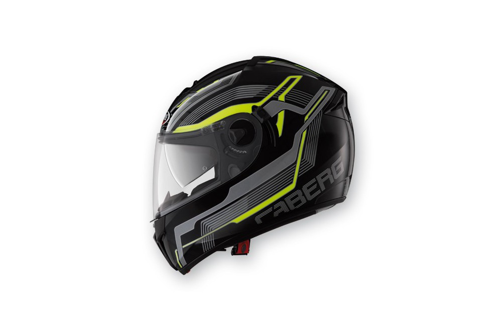 Casque Caberg EGO STREAMLINE Black/Yellow Fluo