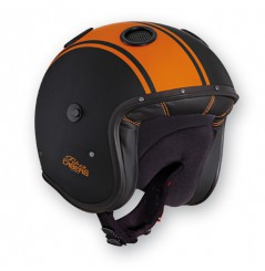Casque Jet Caberg DOOM LEGEND Noir - Orange