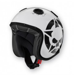 Casque Jet Caberg DOOM DARKSIDE Noir - Blanc