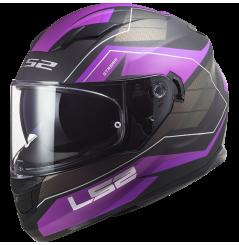 Casque Moto LS2 STREAM EVO MERCURY Violet - Titanium Mat