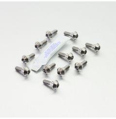 Kit visserie disque de frein avant Titane  pour FZ1 sans ABS (06-10) R1 (98-03) FJR1300 (00-06) XJR1300 (03-09) MT01 (05-11)