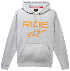 Sweat-Shirts à Capuche ALPINESTARS RIDE 2.0 PULLOVER 2021 Gris - Orange