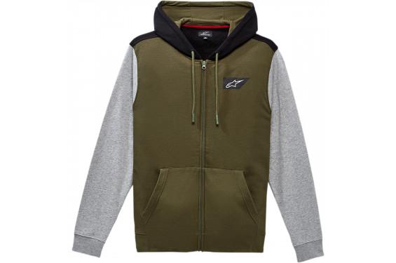 Sweat-Shirts Zippé à Capuche ALPINESTARS SPANNER 2021 Vert - Gris
