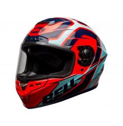 Casque Moto BELL STAR DLX MIPS LABYRINTH 2021 Bleu - Rouge