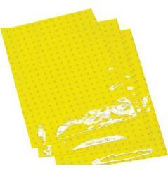 Planches Adhésives CRYSTALL Respirante Jaune Fluo Moto / Quad