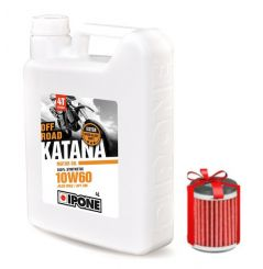 Huile Ipone Katana Off-Road 4T 10W60 4 Litres + Filtre à Huile Offert