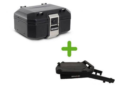 Pack Shad Top Case Terra Black + Support pour Multistrada V4 (2021)