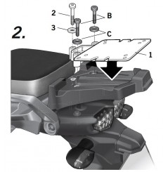 Support Top Case Shad pour XTZ1200 Supertenere (10-19)