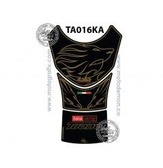 Protection de Réservoir Moto Noir - Or pour APRILIA Tuono