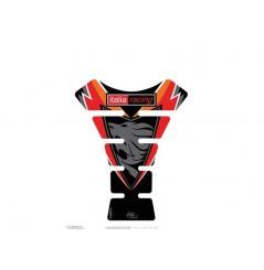 Protection de Réservoir Moto Universel Noir - Rouge pour APRILIA