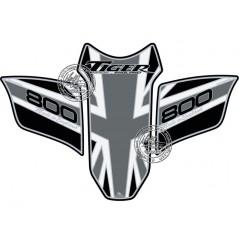 Protection de Réservoir Moto Noir - Gris pour TRIUMPH TIGER 800 (10-19)