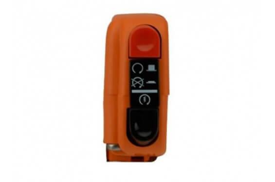 Commodo Electrique Tommaselli Orange Droit Moto 2 Fonctions