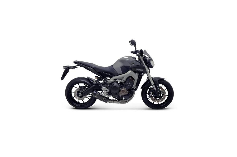 ligne d 39 chappement complete termignoni carbone pour yamaha mt 09 13 15 street moto piece. Black Bedroom Furniture Sets. Home Design Ideas
