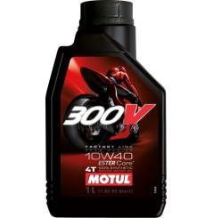 Huile moto Motul 300V Factory Line Road Racing 10W40 1 Litre