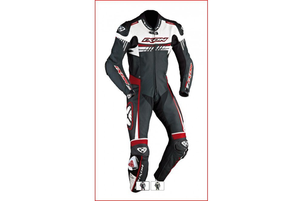 combinaison racing ixon mirage blanc noir rouge street moto piece. Black Bedroom Furniture Sets. Home Design Ideas