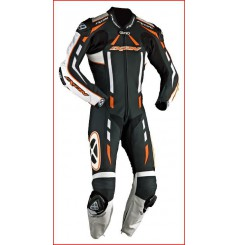 Combinaison Racing IXON PULSAR AIR Noir / Blanc / Orange
